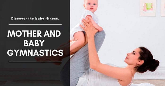 Baby fitness and mother and baby gymnastics