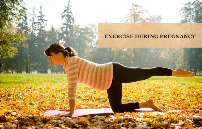 What exercise is allowed during pregnancy period?